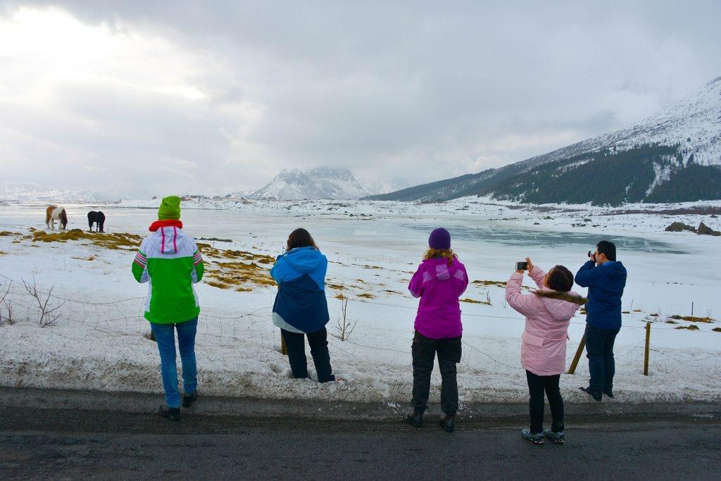 PASS OPP! Fototuristene er overalt i Lofoten, ikke lenger bare på sommerstid.