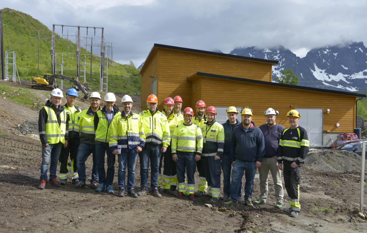 Ny transformatorstasjon i Kvitfossen spenningsatt.