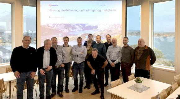 Nettselskap og havneselskap møttes for å diskutere elektrifisering av havner