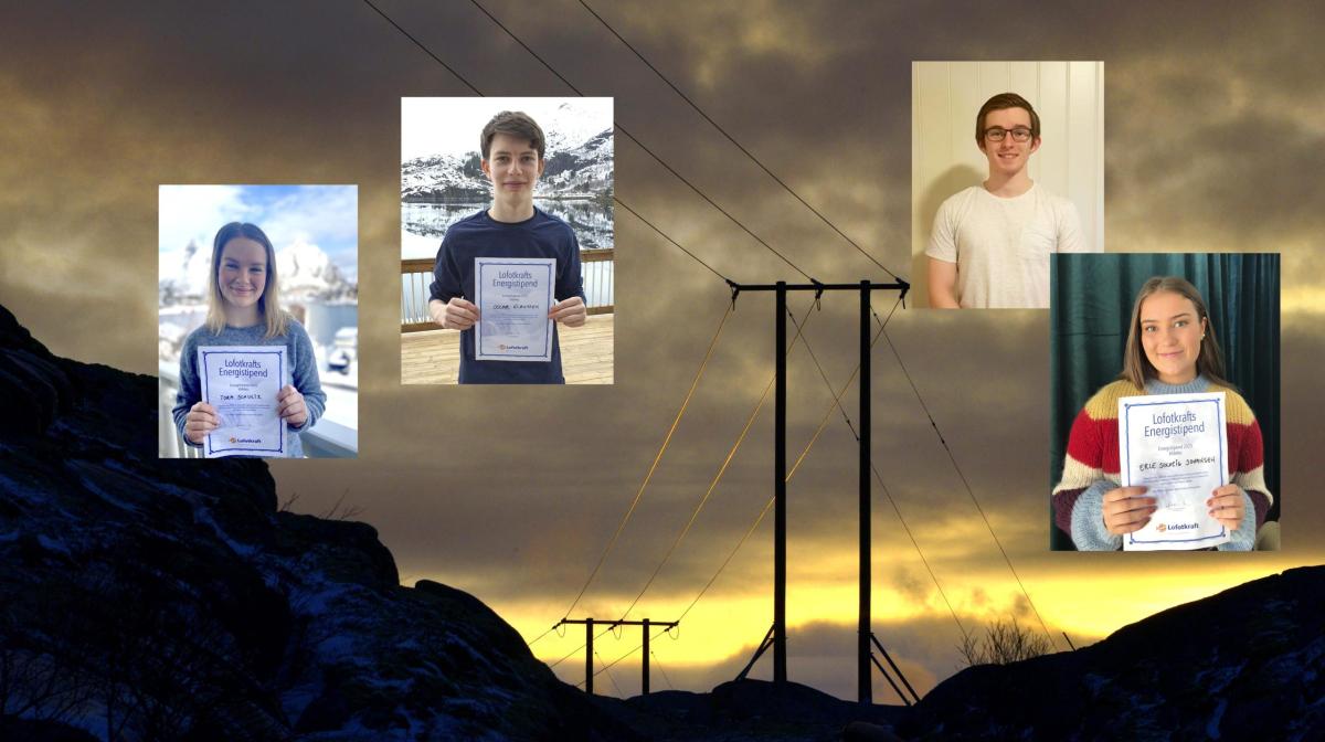 Elleve elever fikk Energistipend fra Lofotkraft.  Les intervju og se listen her.