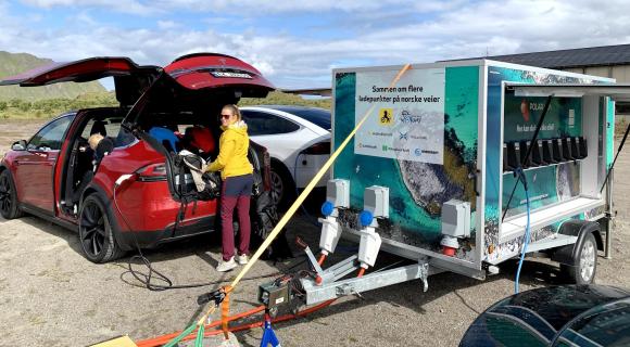 «Takk for at dere gjør Lofoten og Vesterålen tilgjengelig for miljøvennlig transport».