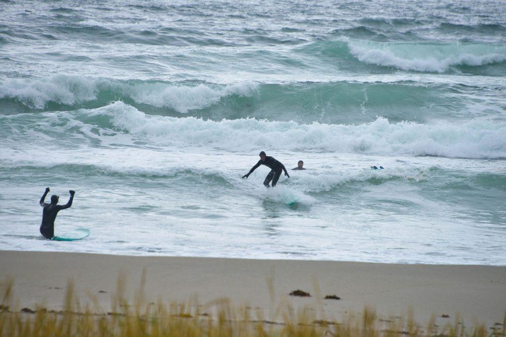 Surfere på Unstad